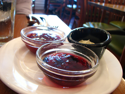 jelly and whipped butter