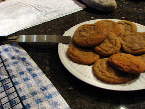 ginger cookies baked