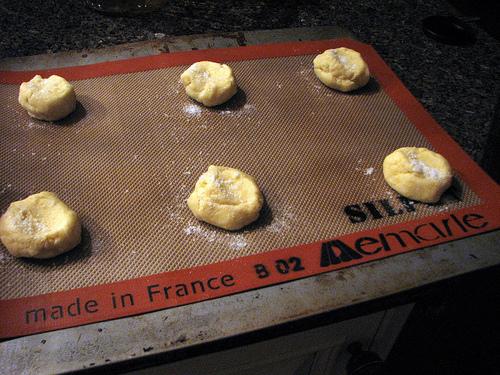 Sugar cookies on a Silpat mat | Foodal