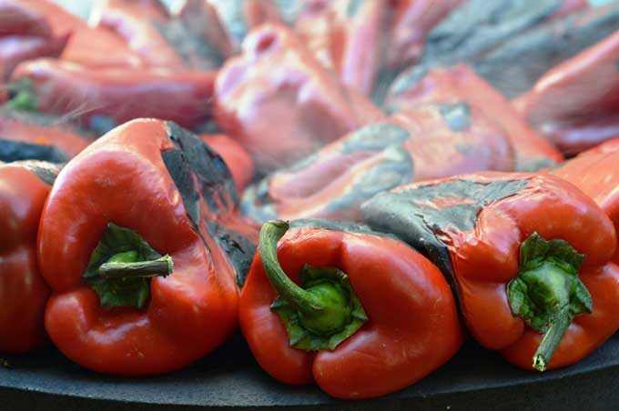 A batch of roasted red bell peppers | Foodal