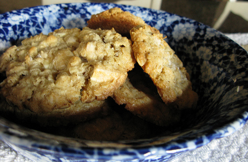 Cookies ona blue and white plate | Foodal