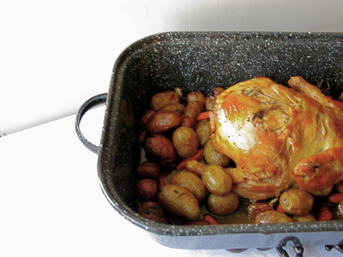 Roasted Lemon Chicken with Potatoes and Carrots