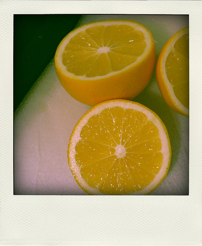 Threee lemon halves in an old fashioned border frame   Foodal