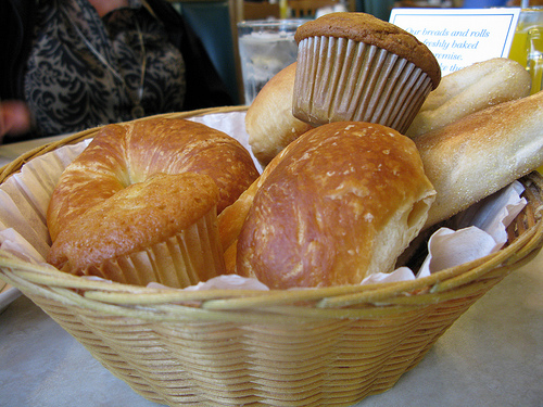 bread basket at Omega