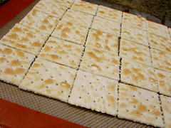 A cookie tray full of saltine crackers | Foodal
