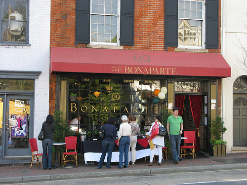 The outside of Cafe Bonaparte in Georgetown, DC | Foodal