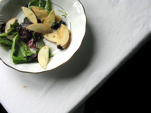plated summer salad