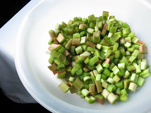 Chopped rhubarb stalks | Foodal
