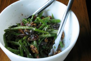 Asparagus Salad with Walnuts, Dates & Pecorino