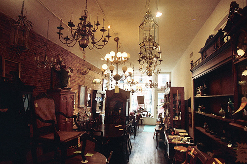 An image depicting the insides of an antique shop.