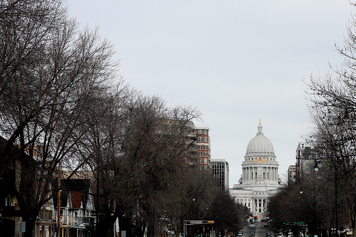 An image of the Capitol Building from afar.
