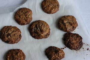 Nutty and Crumbly Chocolate Coconut Cookies