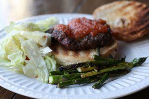 Grilled Rosemary-Garlic Hamburgers