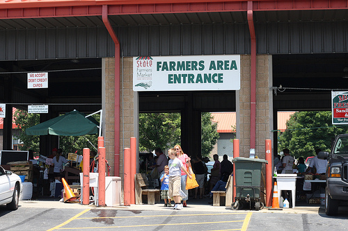 An image of the entrance of Farmers Area in North Carolina.