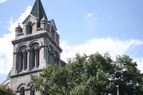 The steeple of the Cathedral Basilica in Saint Louis.
