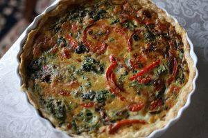 Gruyère Quiche with Caramelized Red Pepper: A Savory Breakfast Pie