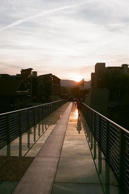 An image of bridge during sunset.
