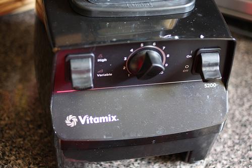 A close up image of a blender.