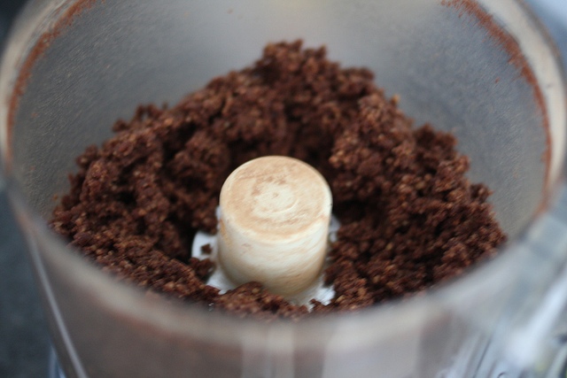 An image of ground ingredients to be added to a brownie mixture.