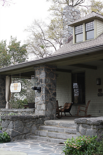An image showing a facade of a bed and breakfast inn.