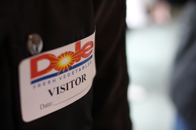 Dole visitor tag