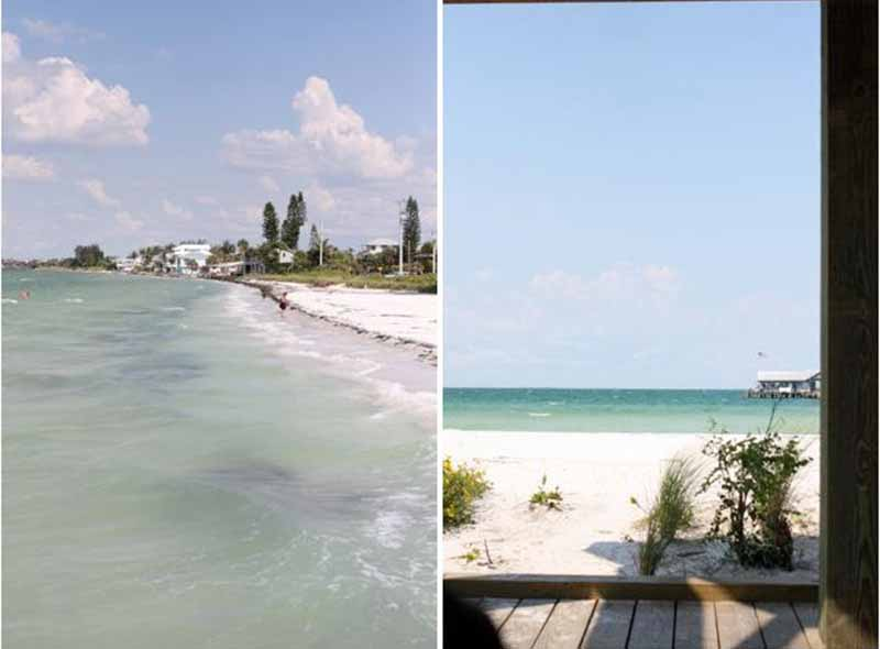 Dual images of the ocean in Florida.