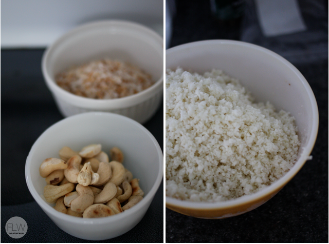 cauliflower rice and cashews