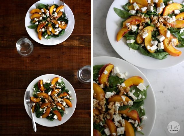 Honey-Glazed Peach Salad for Two
