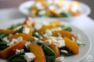 Honey-Glazed Peach Spinach Salad