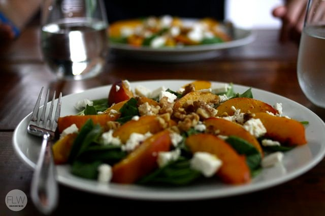 Honey-Glazed Peach Salad Plate