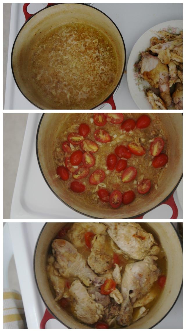 three stages of chicken