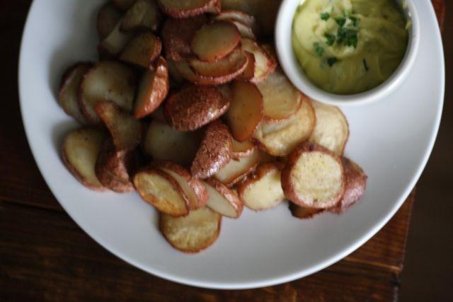 roasted potatoes and aioli