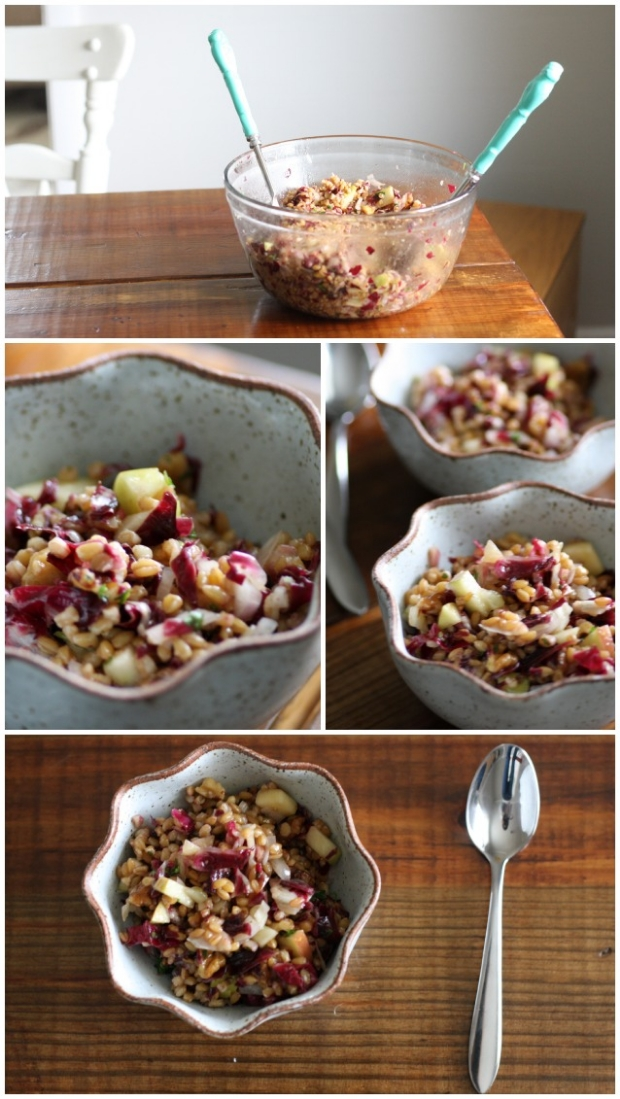 Einkorn Berry Salad | FoodLovesWriting.com