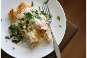 Vegetarian Cauliflower Enchiladas with Poblano Cream Sauce