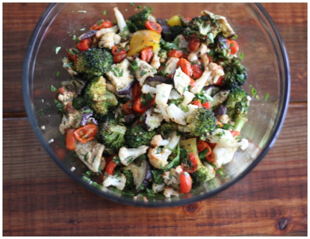 Roasted Vegetable Salad | FoodLovesWriting.com