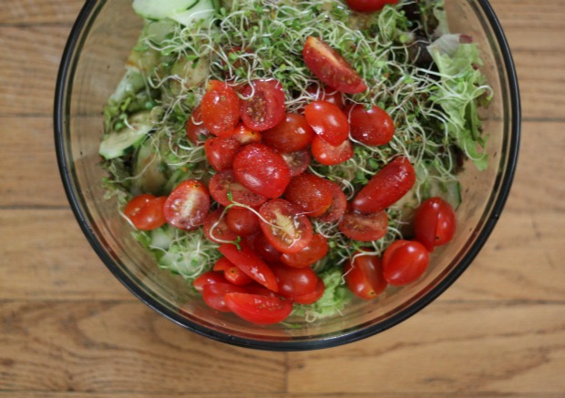 Salad with Tomatoes & Cucumbers | Food Loves Writing