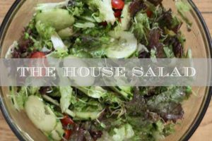 House Salad with Cucumbers and Tomatoes