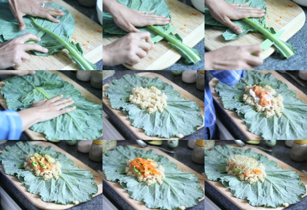 Making Collard Wraps