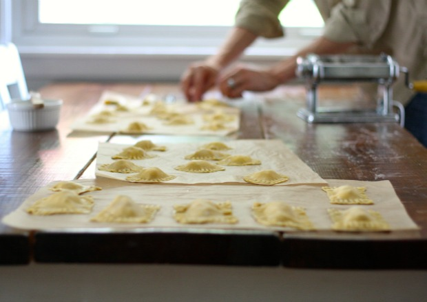 ravioli on the counter