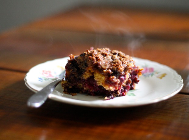 Whole-Grain Streusel-Topped Blueberry Buckle