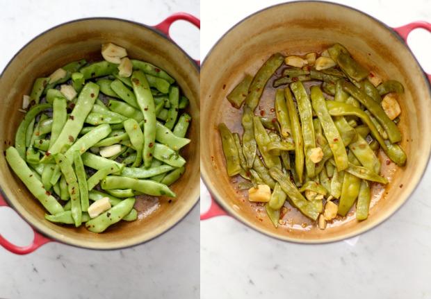 Braised Roma Beans