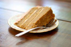 Spelt Layer Cake with Honey-Sweetened Raspberry Whipped Cream