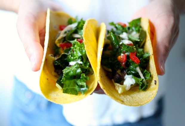 Food Loves Writing Portabella Zucchini Tacos