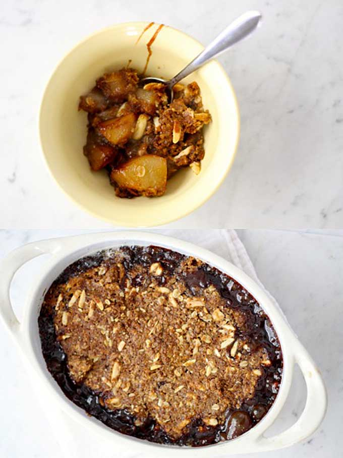 Looking for an easy to make dessert using fresh pears? Try a fruit crisp. This super simple treat can be thrown together and baked in hour. Get the recipe now.