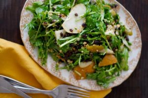 Bosc Pear, Currant, and Hazelnut Salad