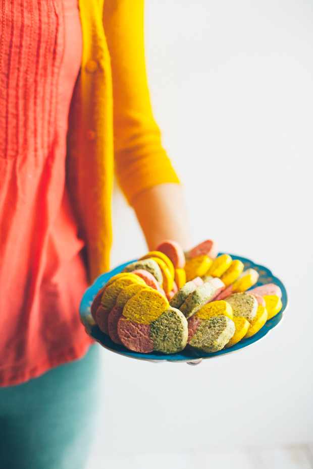 Tricolor Cookies / FoodLovesWriting.com
