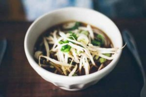 Healthy Balsamic Vegetable Soba Noodle Soup