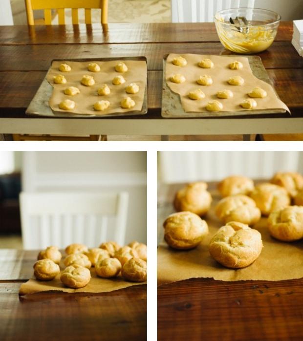 Making Einkorn Cream Puffs