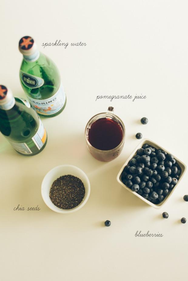 Blueberry POM Chia Fresca