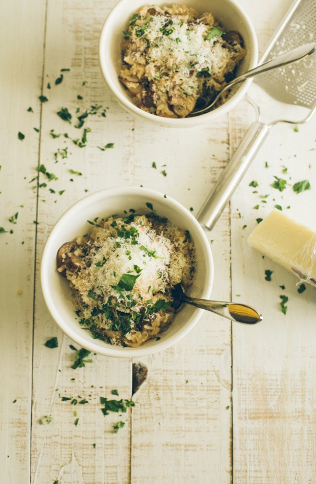 Mushroom Risotto + Love Your Leftovers